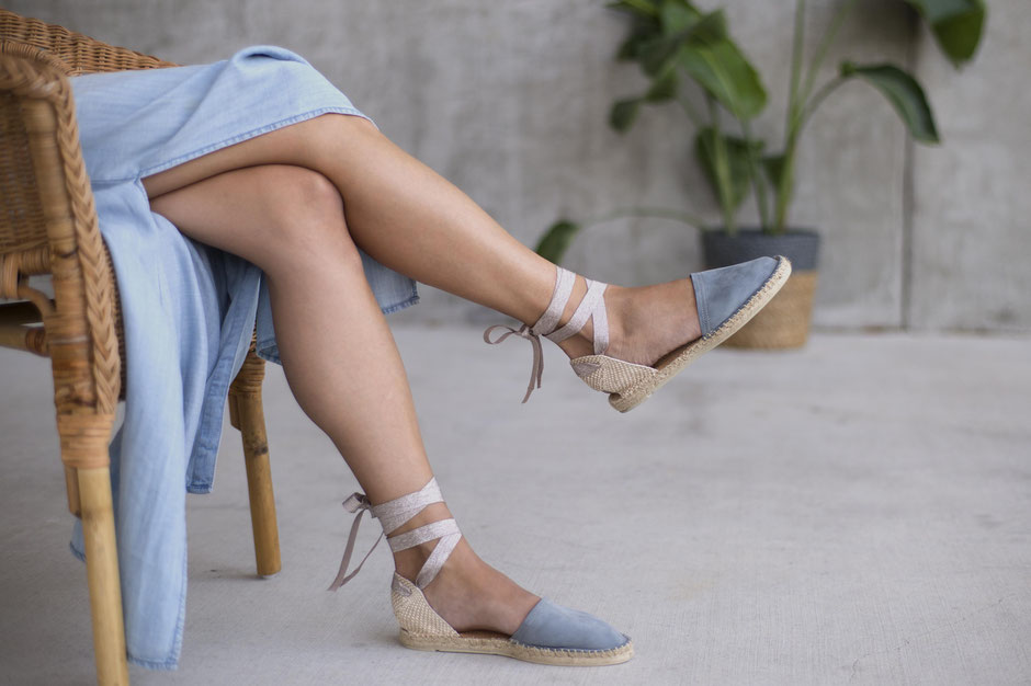 Our turquoise platform espadrilles are handmade in small batches in France and made of premium and eco leather.