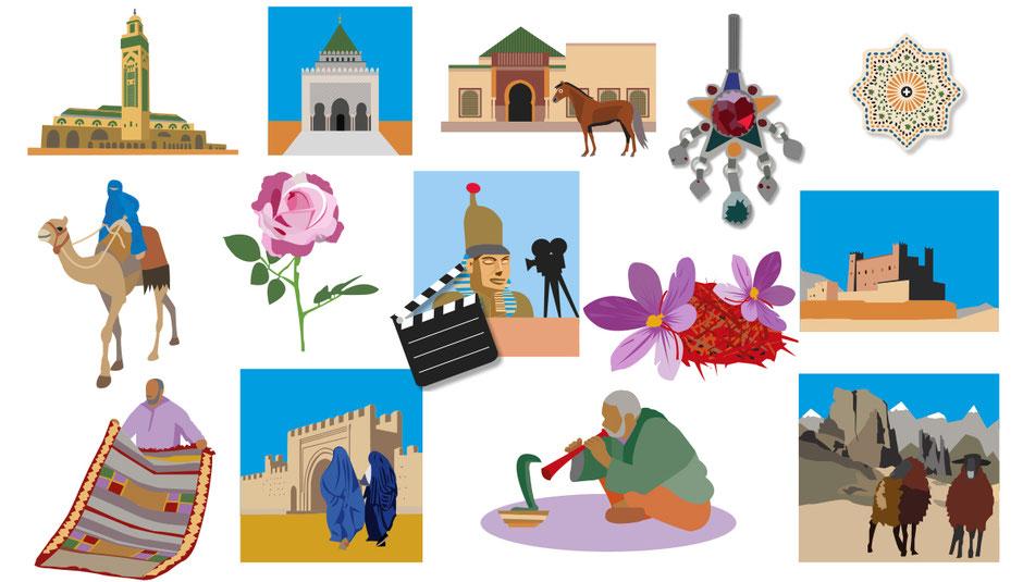 Van Bun Communicatie en Vormgeving - Illustraties Dades Reizen