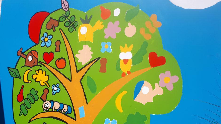 Dirk Van Bun Communicatie & Vormgeving - Illustratie - Muurschildering - Huis van de Wereld - Concept - The making of...