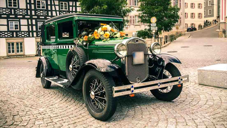 ford a berliner taxi oldtimerfahrten hezel. Black Bedroom Furniture Sets. Home Design Ideas