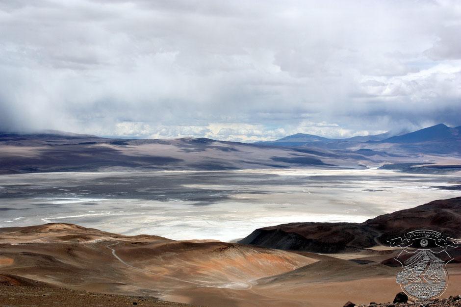 Desde este punto podemos ver el Salar Rio Grande