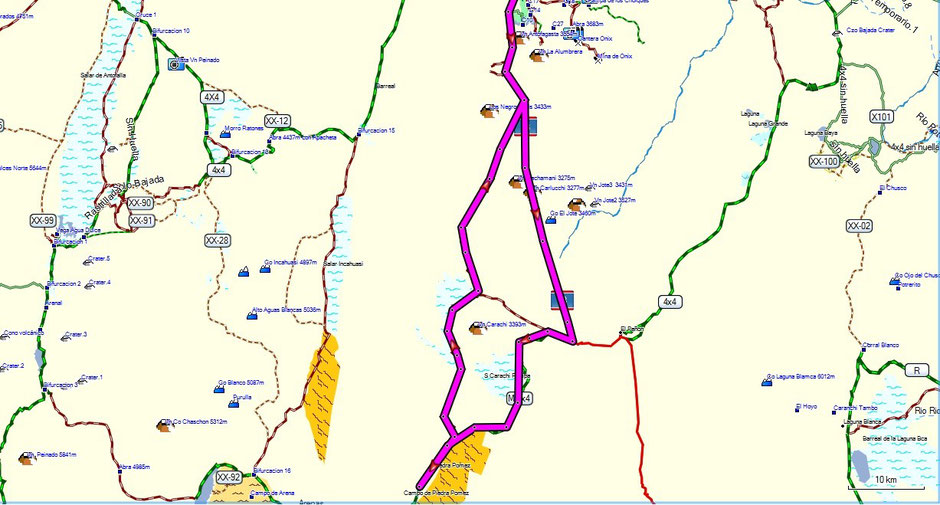 Mapa del recorrido en total 180km