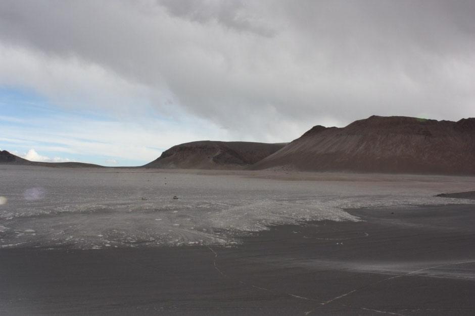 Entrando a la Caldera del Cerro Blanco