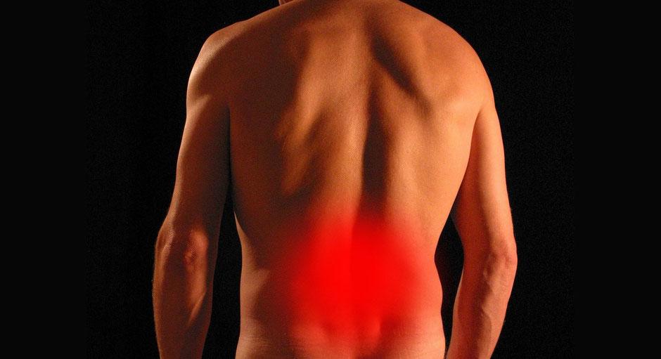 Rückenschmerzen, Bandscheibenvorfall. Rückentraining, Rückenübungen, Physiotherapie Rückenschmerzen