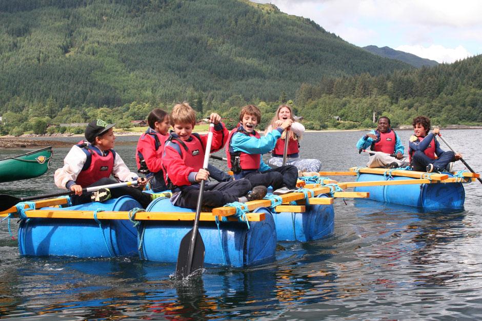 construction de radeau, summer camp, séjour linguistique