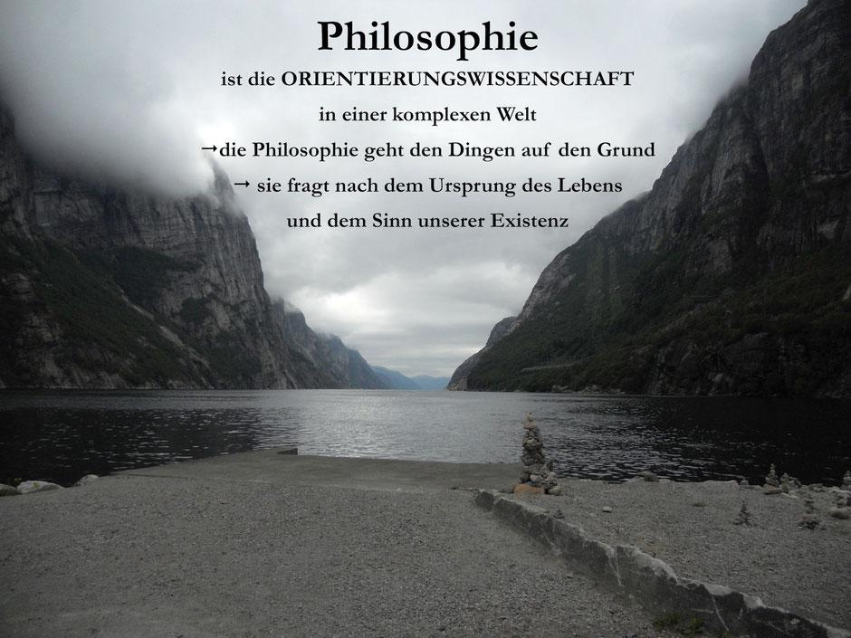 Philosophie ist die Orientierungswissenschaft in einer komplexen Welt. Die Philosophie geht den Dingen auf den Grund. Sie fragt nach dem Ursprung des Lebens und dem Sinn unserer Existenz.
