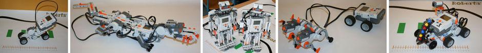 von Schülern im MaPhIn-Unterricht gebaute Roboter