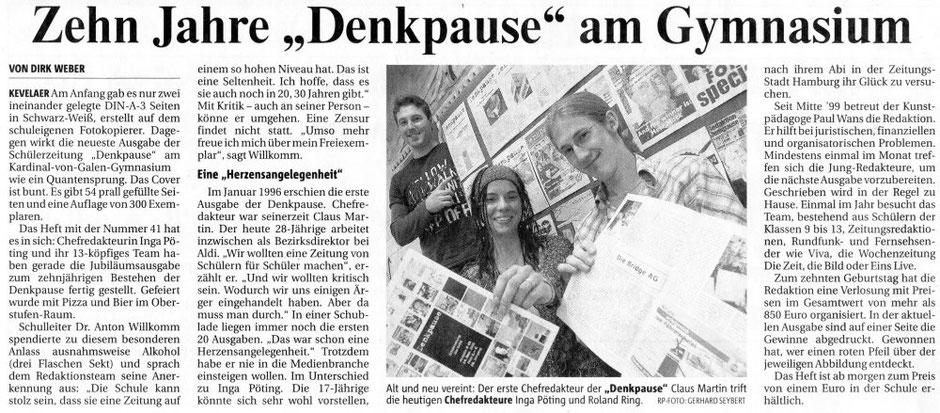 Rheinische Post, 16.11.2006 (10 Jahre Denkpause)