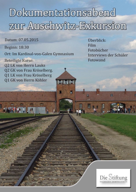 Dokumentationsabend zur Auschwitz-Exkursion