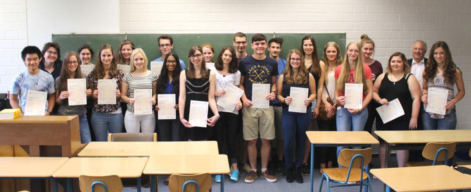 Gruppenfoto der Zertifikatskurse