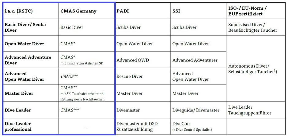 Tauch-Folgeausbildung bis zum DIve Leader CMAS*** Divemaster Diveguide bei MaraFlow-dive