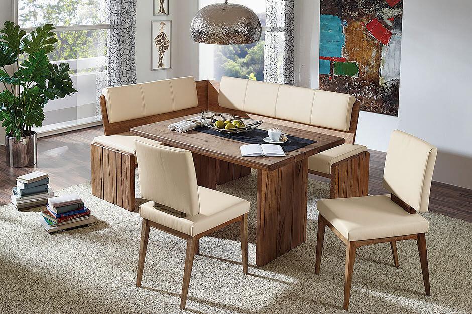 Eckbank massiv leder  Traum Eckbank Leder - Naturnah Möbel - Moderne Massivholzmöbel