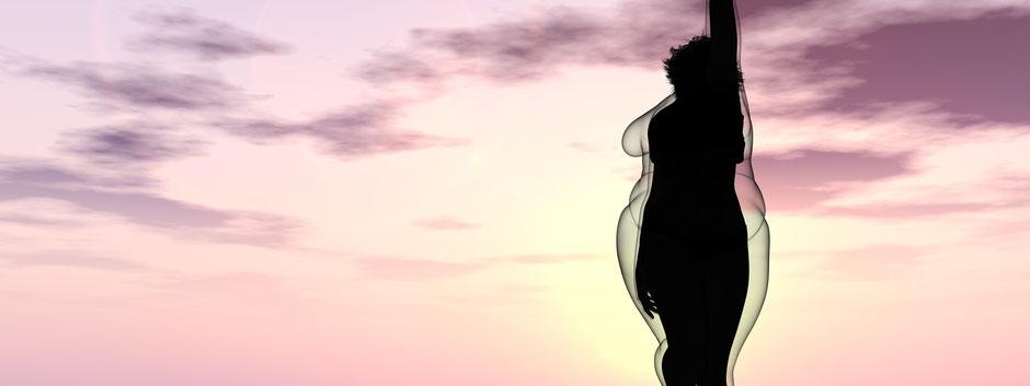 abnehmen, schlank, wolken, himmel