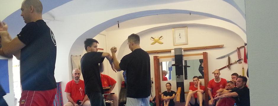 Miko Kung Fu Sankt Pölten, Prüfung