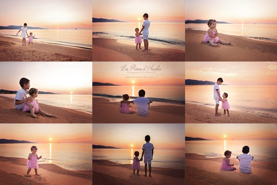 Lever de soleil dans le Golfe de St Tropez à Ste Maxime photographe bébé grossesse Fréjus Toulon