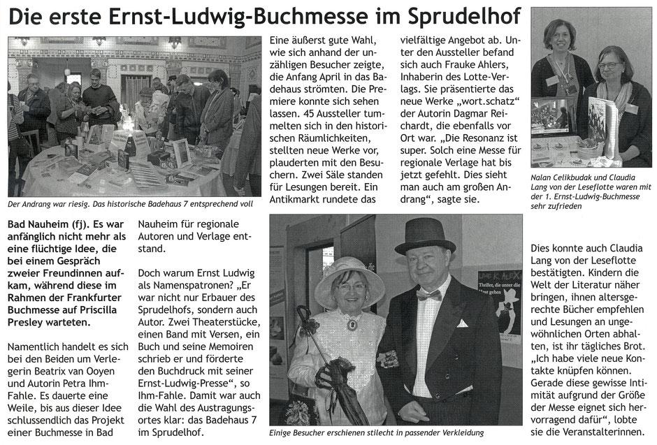 Die erste Ernst-Ludwig-Buchmesse im Sprudelhof, Stadtjournal Bad Nauheim, Text und Fotos: Florian Jung