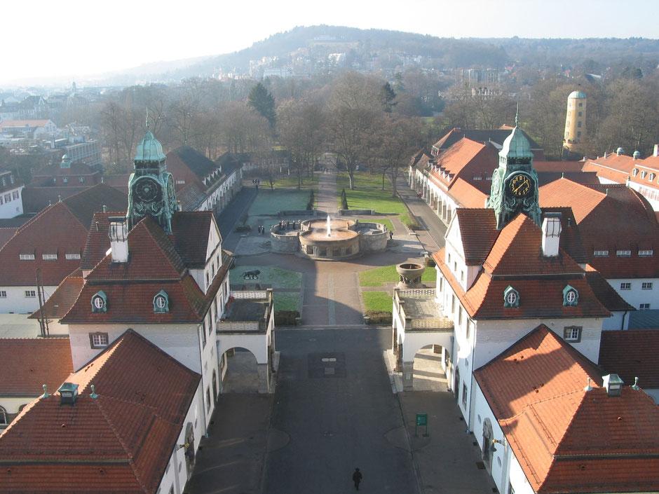 Ort der ersten Ernst-Ludwig-Buchmesse: Ernst Ludwigs Sprudelhof in Bad Nauheim am Palmsonntag, den 09. April 2017, Foto: Oliver Groß