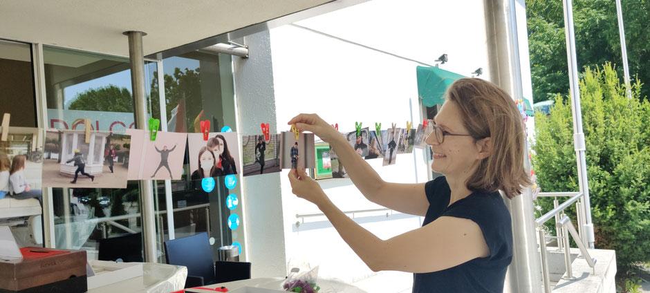 Magdalena Zeller von der KulturRegion FrankfurtRheinMain - Projektinhaberin Geist der Freiheit - Freiheit des Geistes und Kleidung, Freiheit, Identität, sowie Mobiler Kleiderschrank, Foto: Beatrix van Ooyen