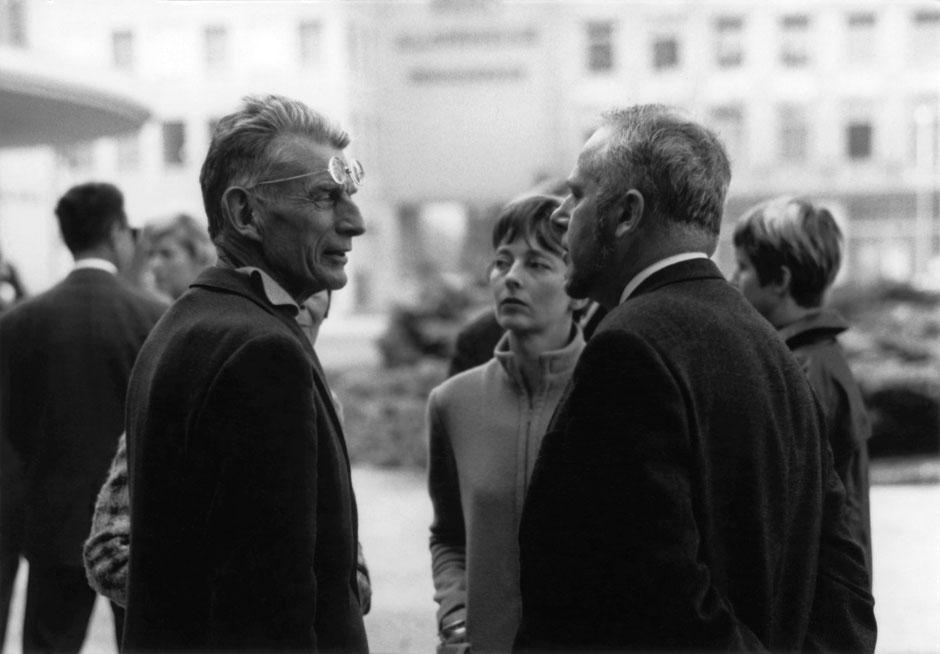 Von links: Samuel Beckett, Erika und Elmar Tophoven, Foto: Erika Tophoven