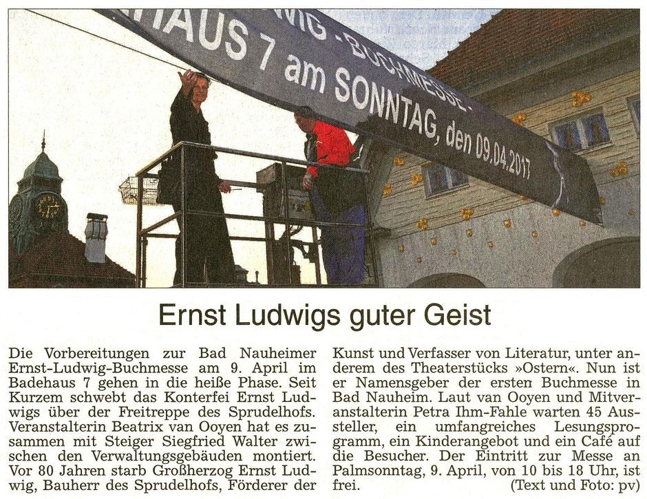 Ernst Ludwigs guter Geist, WZ 22.03.2017, Foto und Text: pv