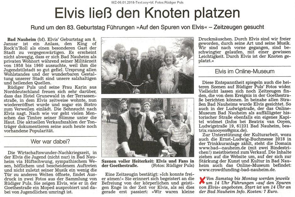 """""""Elvis ließ den Knoten platzen"""" - Domain wird zugunsten der Ernst-Ludwig-Buchmesse zum Kauf angeboten - , WZ, 06.01.2018, Text: ooy+bf, Fotos: Rüdiger Puls"""
