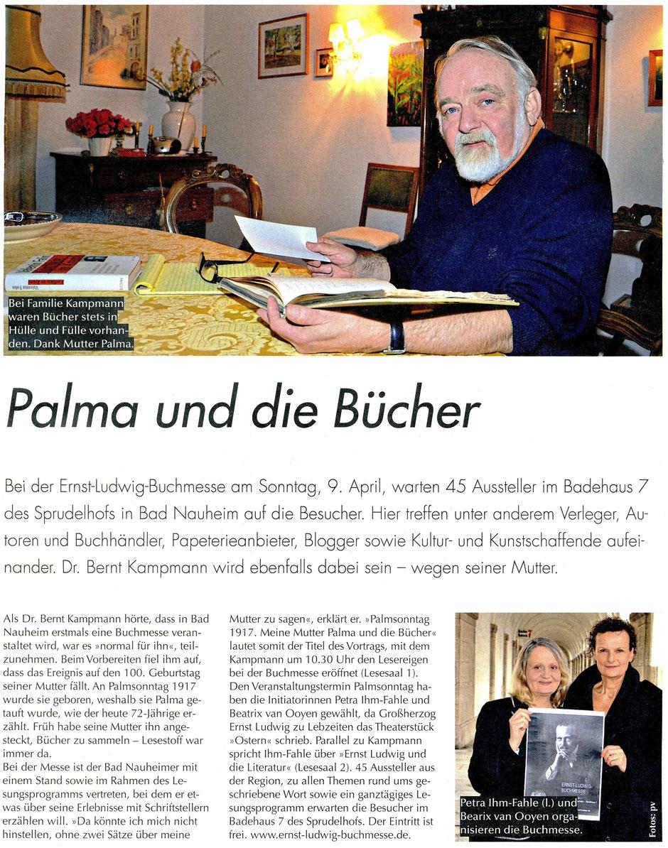 Palma und die Bücher, Streifzug 4/2017, Text und Fotos : pm