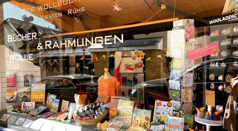 Schaufenster Buchhandlung Rühs Karlstraße 17a, Bad Nauheim, Foto: Buchhandlung Rühs