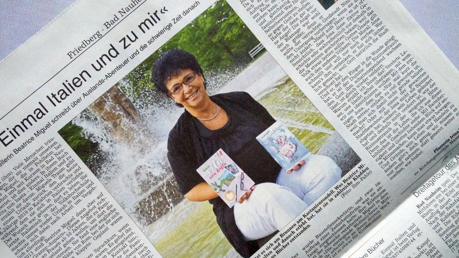 Einmal Italien und zu mir - Schriftstellerin Beatrice Miguel schreibt über Auslands-Abenteuer u. die schwierige Zeit danach, WZ 13.07.2019, Text+Foto Petra Ihm-Fahle