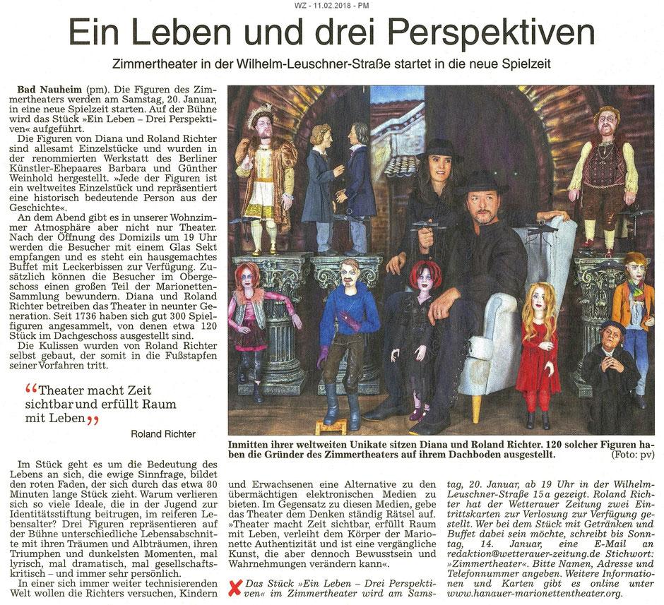 Ein Leben - Drei Perspektiven, WZ 11.02.2018, PM