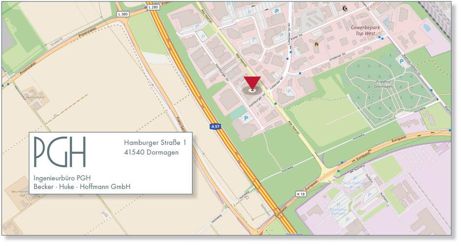 Standort Ingenieurbüro PGH ·Becker ·Huke · Hoffmann GmbH