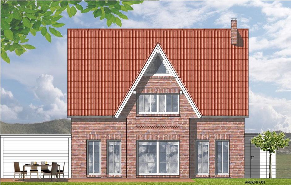 bild2: Friesenhaus in telgte, gartensseite mit carport, bockhaus-odenthal architekten, architektur,immobilien,design