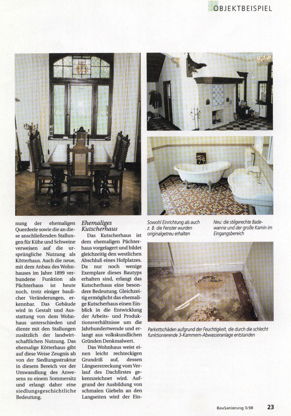 Bilderreihe: Bild4 : Artikel aus der Bausanierung, Sanierung eines Originals, Haus Elmar Münster