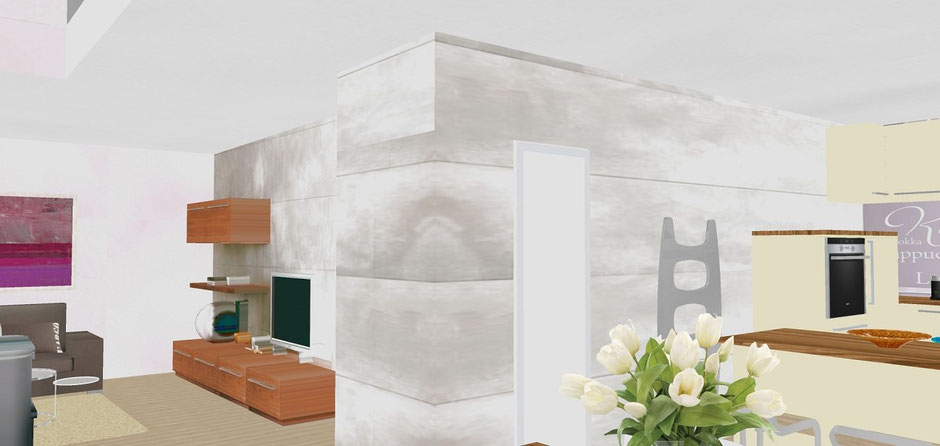 Bild 5: haus B münster gelmer, visualisierung offenes wohnkonzept bockhaus-odenthal architekten münster, architektur immobilien design,einfamilienhaus,wohnhaus