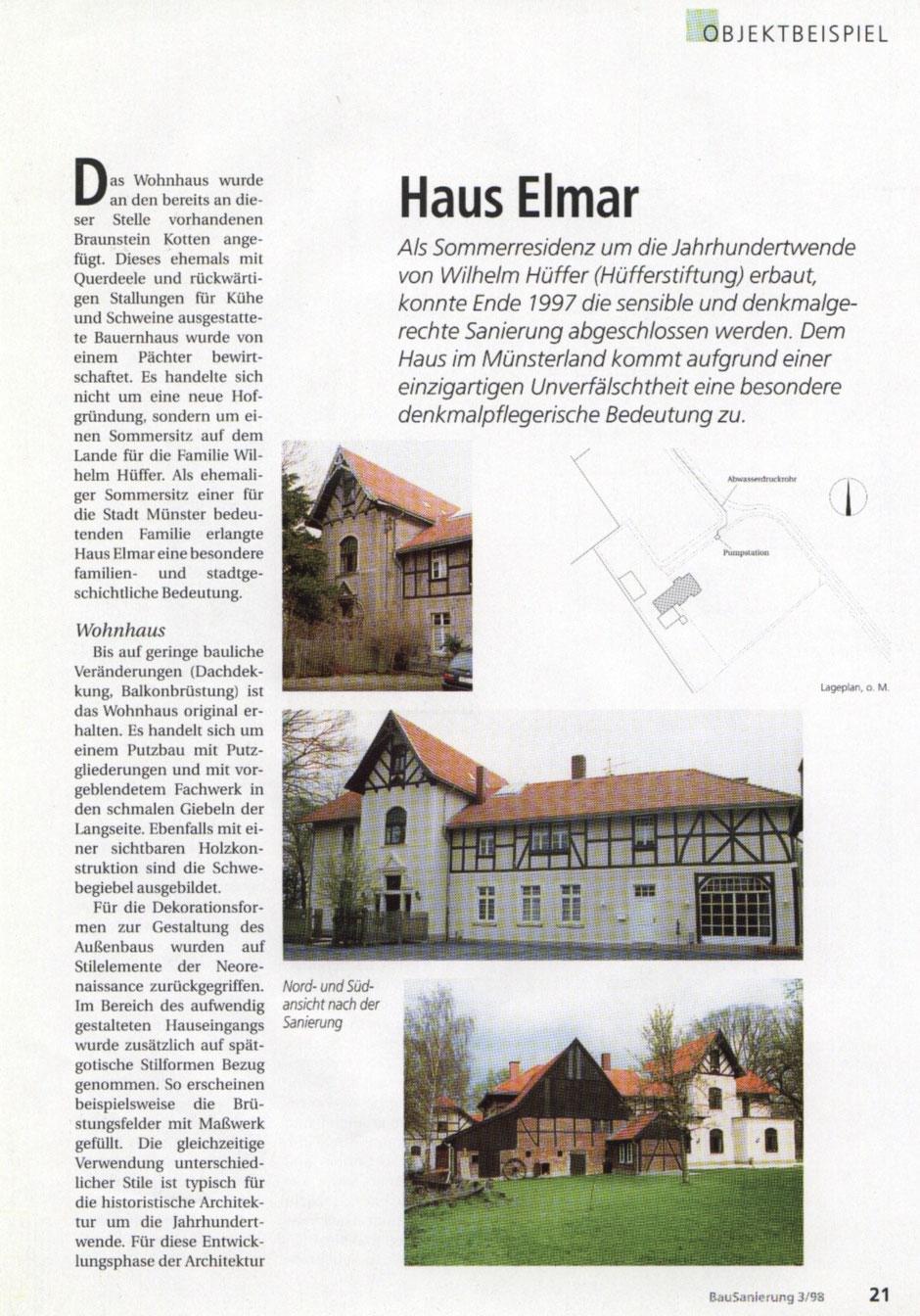Bilderreihe: Bild2 : Artikel aus der Bausanierung, Sanierung eines Originals, Haus Elmar Münster