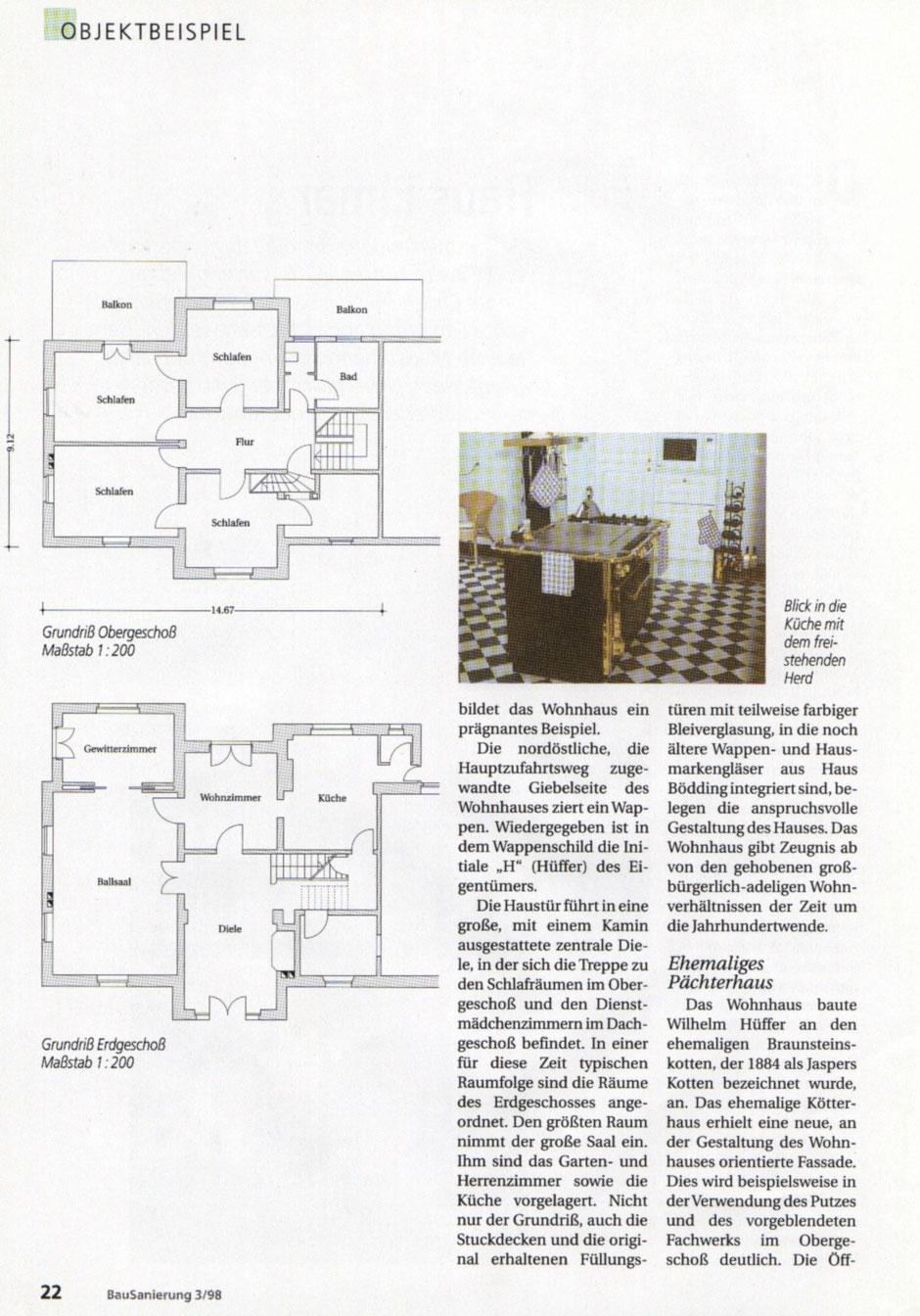Bilderreihe: Bild3 : Artikel aus der Bausanierung, Sanierung eines Originals, Haus Elmar Münster