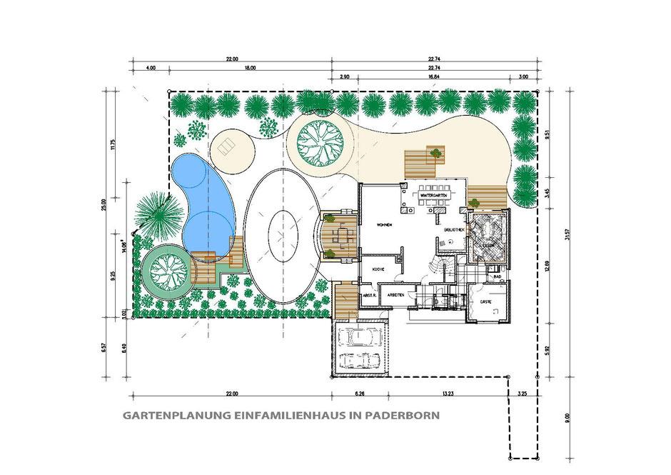 ild1:Bockhaus-Odenthal Architekten Münster | individuell |kreativ|energetisch|Architekten AKNW,NRW,germany architects | Gartenplanung | Gartenteich | Holzdeck                                   Outdoor | Projekte