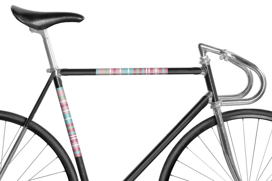 Mooxi-Bike, Fahrrad, reflektierende Folie, Streifen Rosa, Bike, Panel, Banderole, reflectiv, reflektierend
