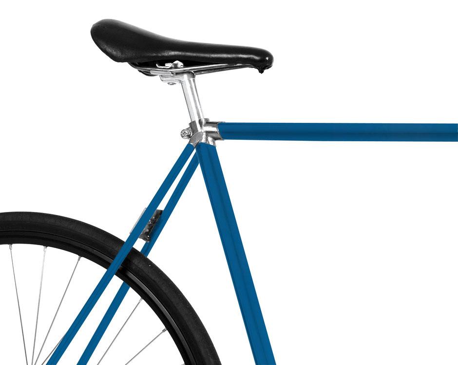 Bild, Folie, Fahrrad blau, Jeansblau