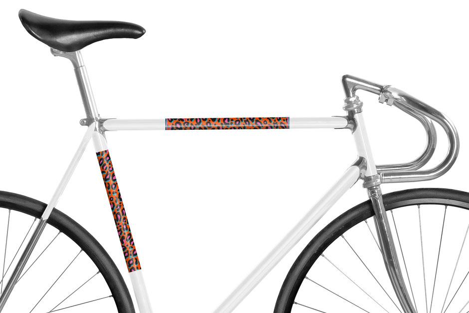 Fahrrad, reflektierende Folie, Leopard, Leo, Animal Print