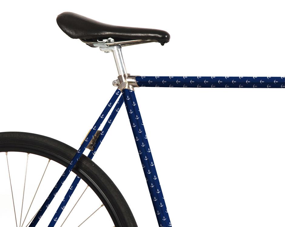 Fahrrad Folierung, Anker, Hamburg, Fahrradstadt, maritim, Hafen