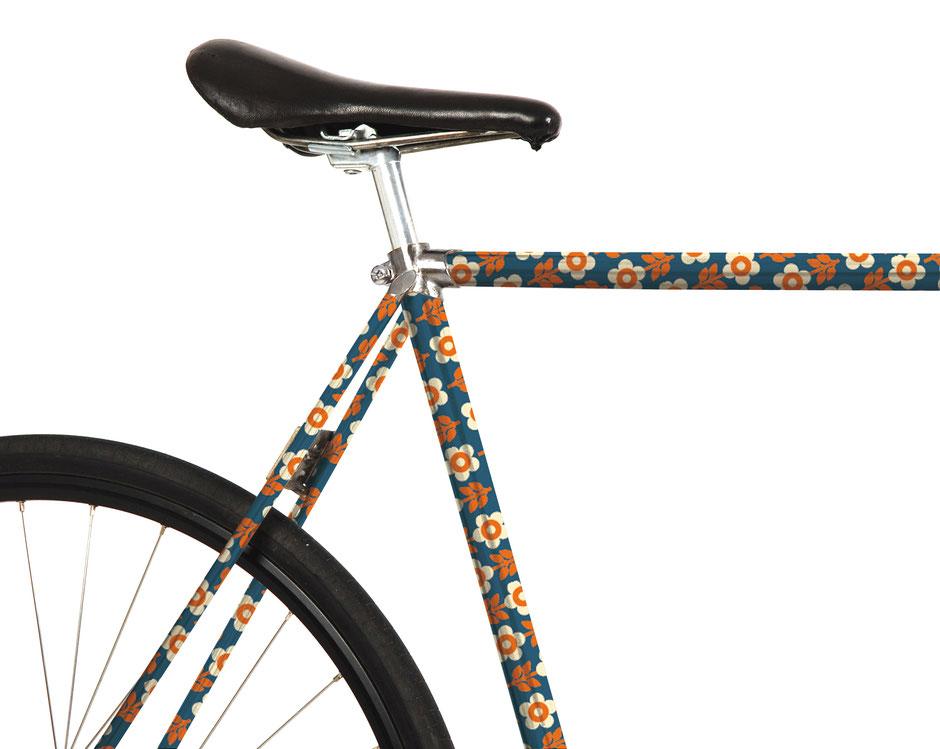 Fahrrad Folierung. bonnie and buttermilk, 70er Jahre, Prilblumen