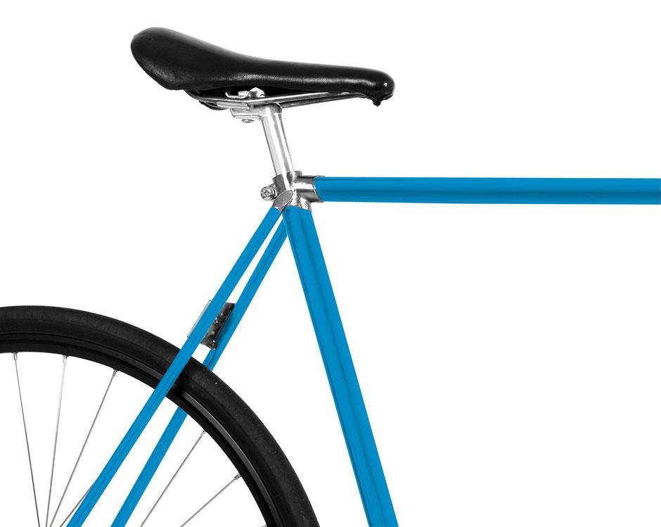 Bild: Folie, Fahrrad, blau, Mooxi-Bike, bike, himmelblau, sky blue