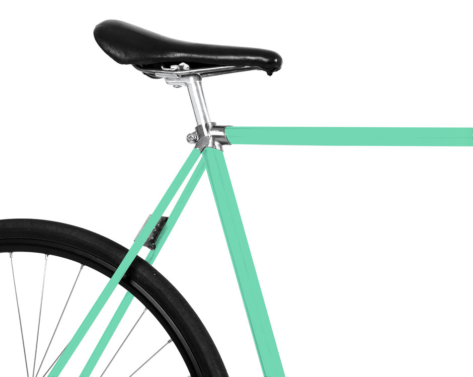 Bild: Folie Fahrrad mint, magic, Pfefferminz, peppermint, karibic