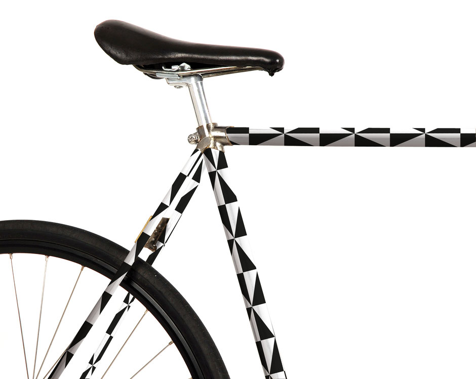 Fahrrad Folierung, black, white, elegant, up cycling, modern, retro, grafisch