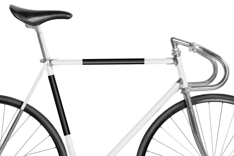 Fahrrad, Bike, Panel, Banderole, reflectiv, reflektierend, reflektierende Folie, Schwarz
