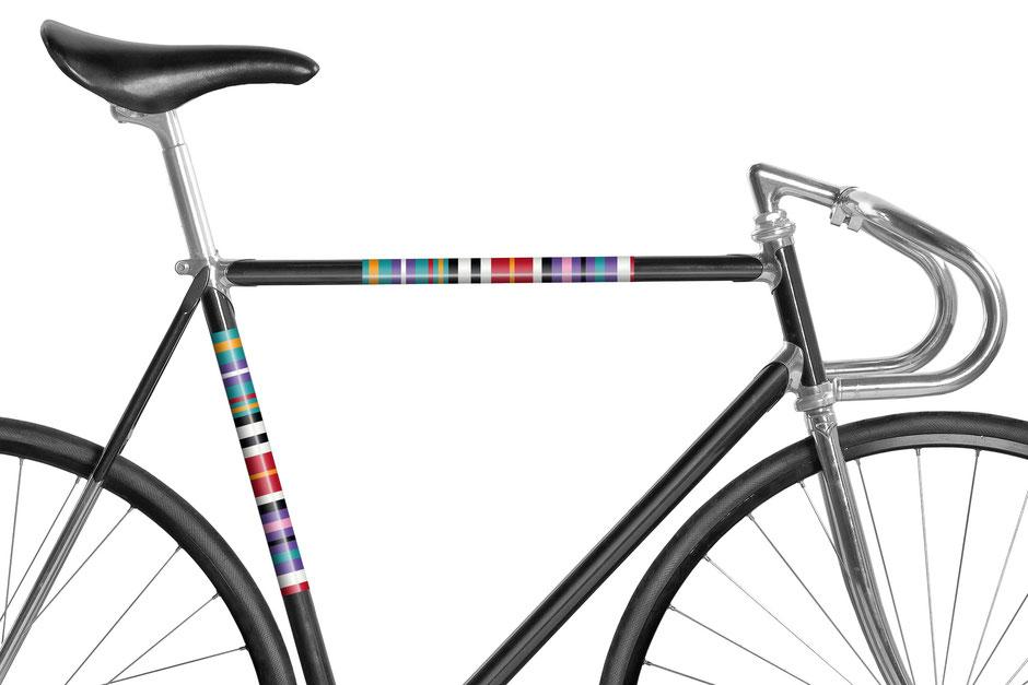 Fahrrad, reflektierende Folie, Streifen Mint