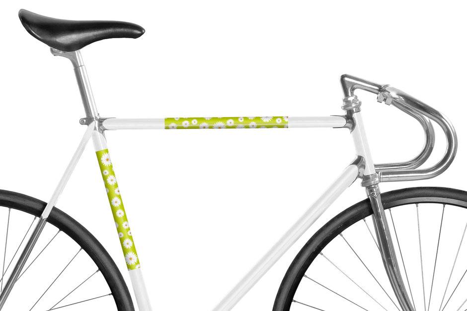 Fahrrad, reflektierende Folie, Daisy Flower, Bike, Gänseblümchen, Frühling, hellgrün, green