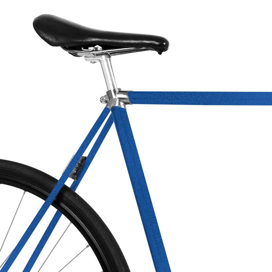 Mooci-Bike, Folie, Fahrrad, metallic blau, 80th, Jugendrad