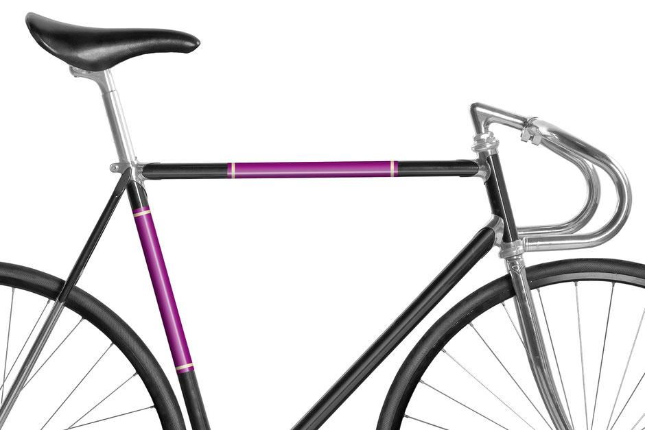 Mooxi-Bike, Fahrrad, reflektierende Folie, Purpurrot, Bike, Panel, Banderole, reflectiv, reflektierend