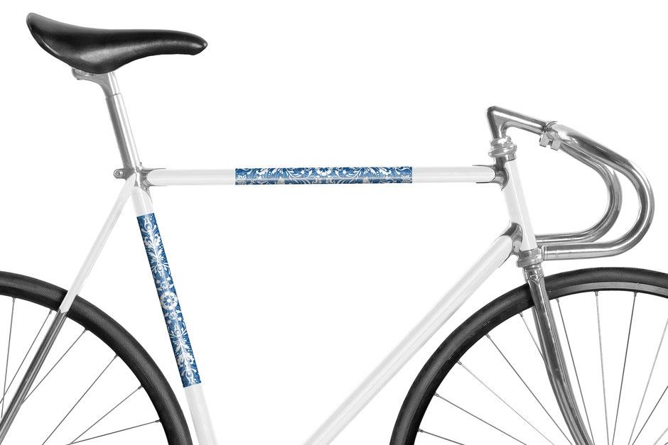 Fahrrad reflektierende Folie Tannengrün